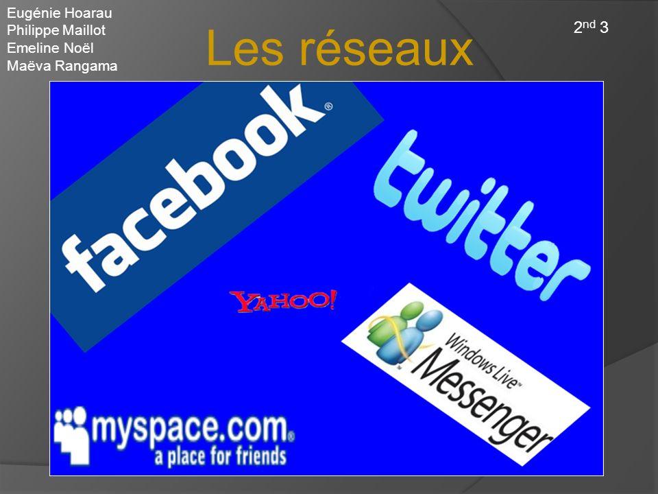 Les réseaux sociaux Eugénie Hoarau Philippe Maillot Emeline Noël Maëva Rangama 2 nd 3