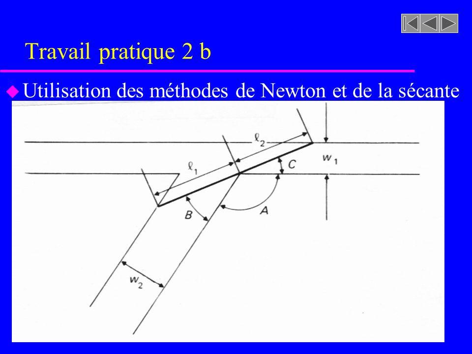 Travail pratique 2 b u Utilisation des méthodes de Newton et de la sécante