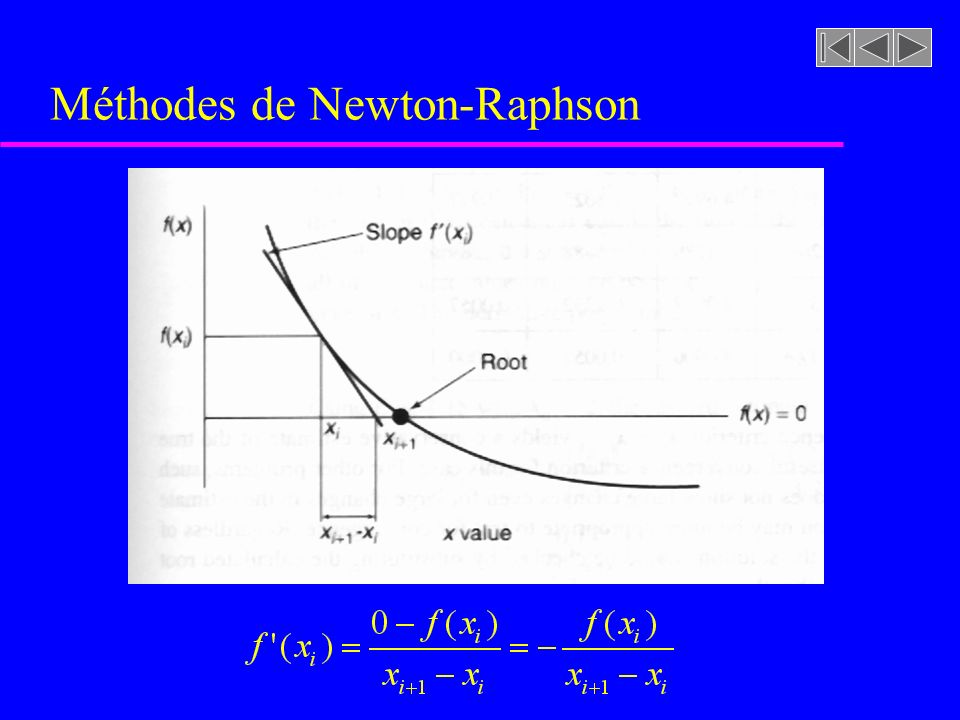 Méthodes de Newton-Raphson