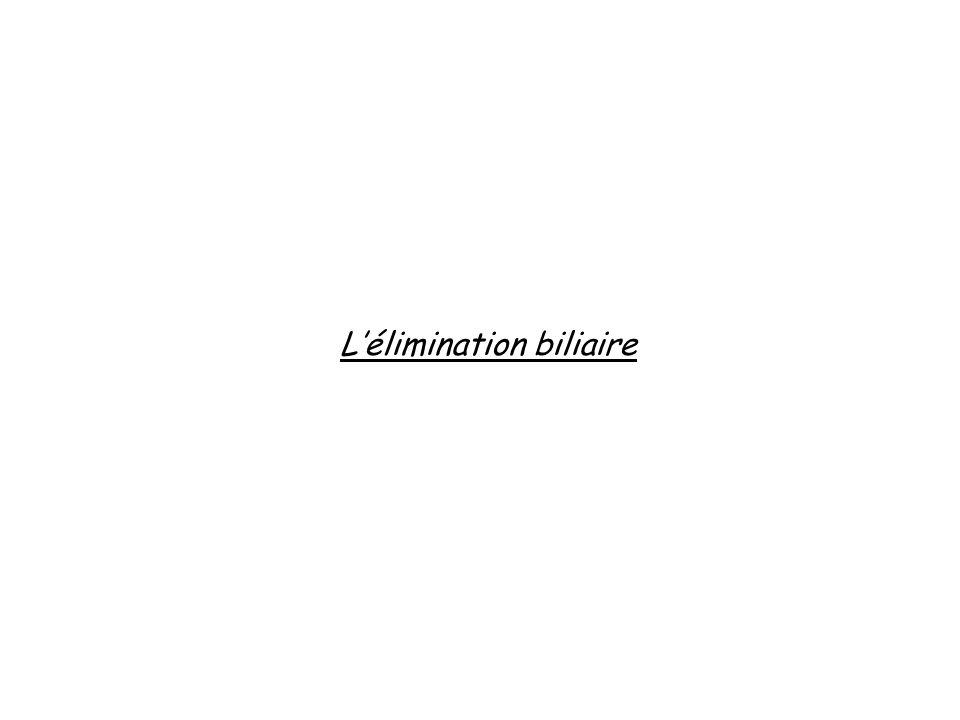 Lélimination biliaire