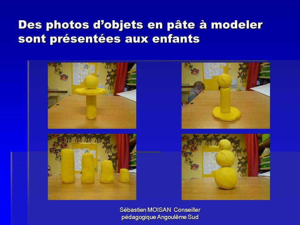 Sébastien MOISAN Conseiller pédagogique Angoulême Sud Les photos sont parlées… Le maître explique quil sagit dobjets qui ont été fabriqués par dautres enfants dans une autre école.