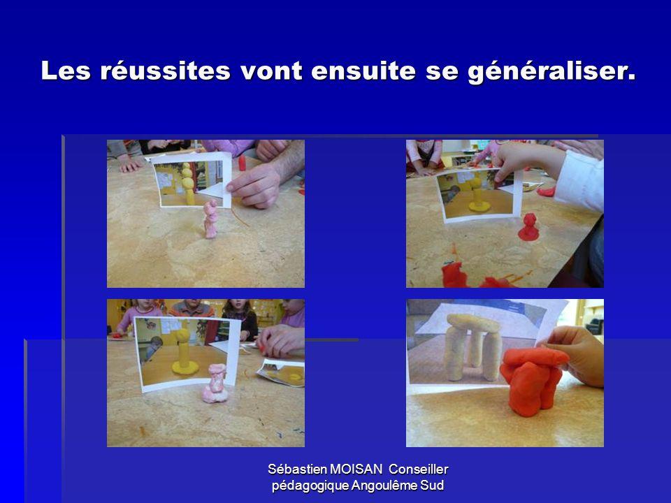 Sébastien MOISAN Conseiller pédagogique Angoulême Sud Les objets produits sont ensuite exposés et photographiés… (ils ne sont pas écrasés tout de suite pour retourner dans la boîte !)