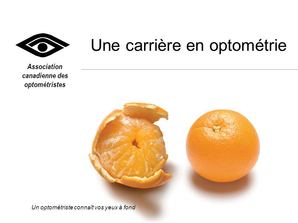 OPTO.CA Un optométriste connaît vos yeux à fond Parlez à un optométriste de votre collectivité – si la chose est possible, soyez son « ombre » dans son cabinet et entretenez- vous avec son personnel.