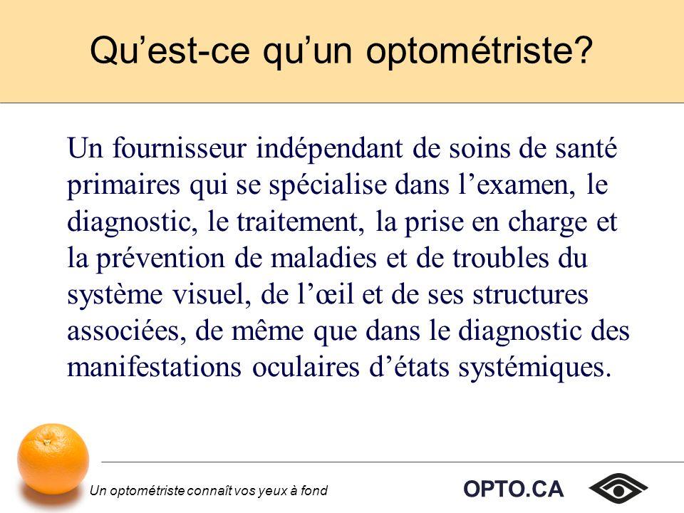 OPTO.CA Un optométriste connaît vos yeux à fond Une vingtaine décoles aux États- Unis sont agréées et reconnues au Canada.