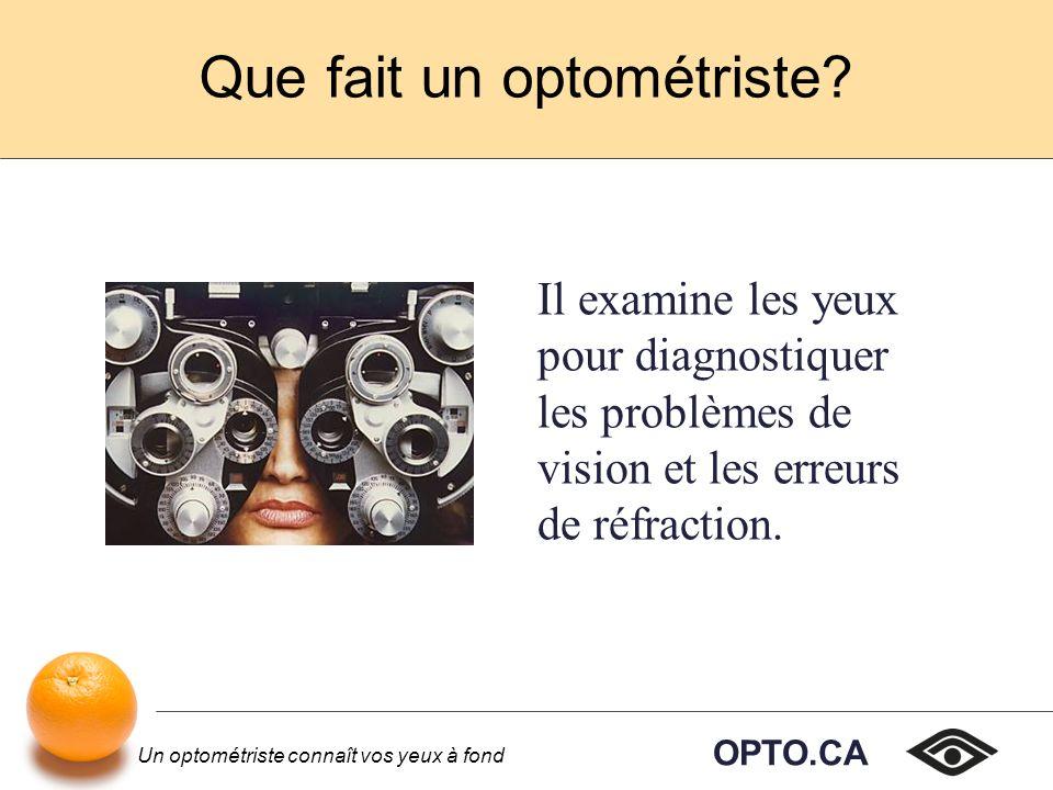 OPTO.CA Un optométriste connaît vos yeux à fond Loptométrie permet à ses membres de devenir des praticiens autonomes en santé ou de travailler comme employés au sein dun cabinet collectif ou dune société.