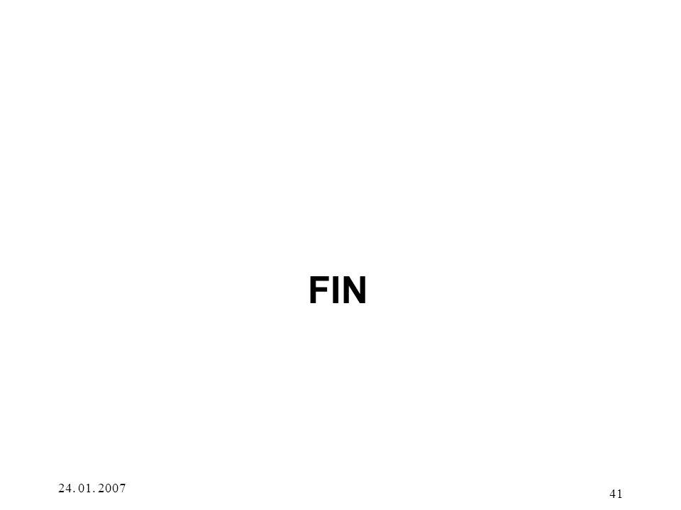 24. 01. 2007 41 FIN