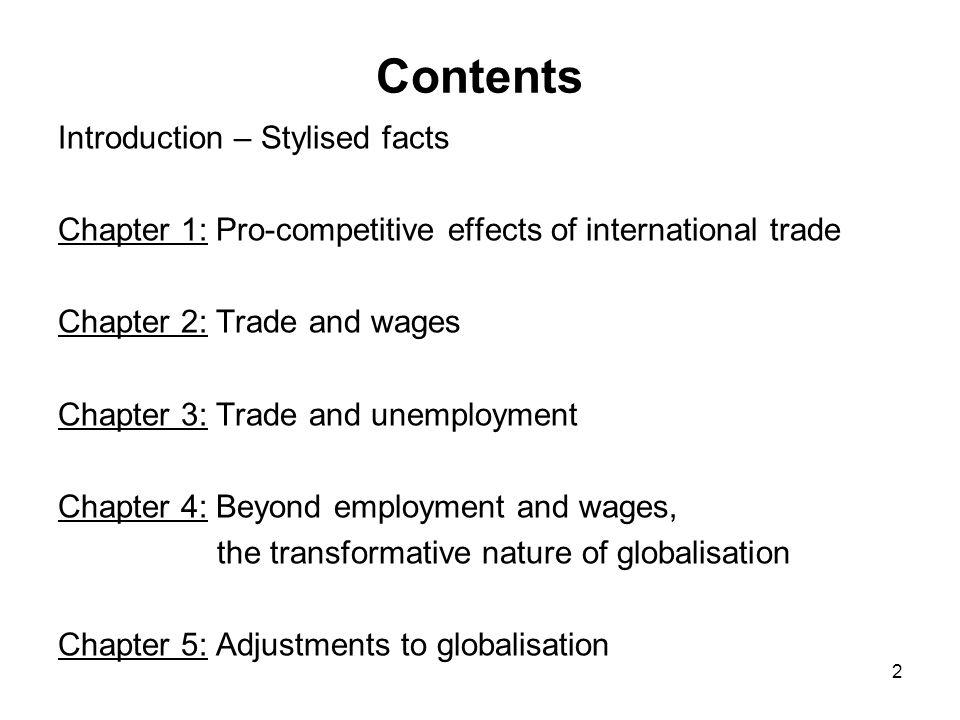Questions sur l impact de la mondialisation