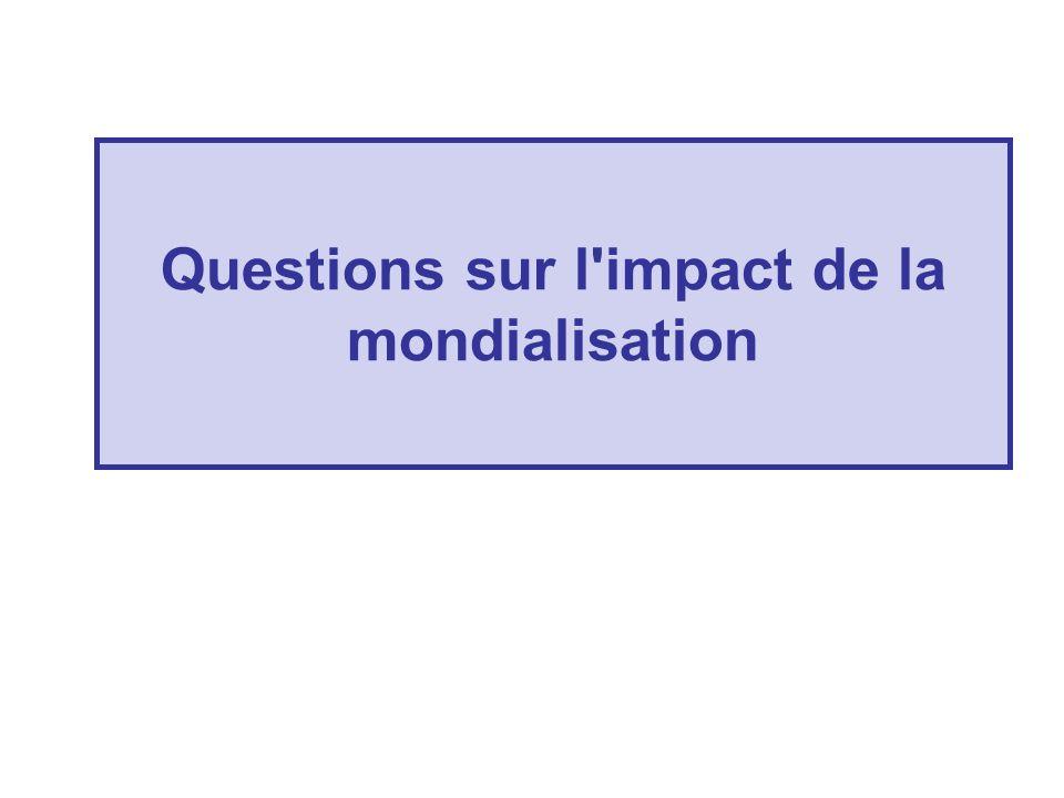 Questions sur l'impact de la mondialisation