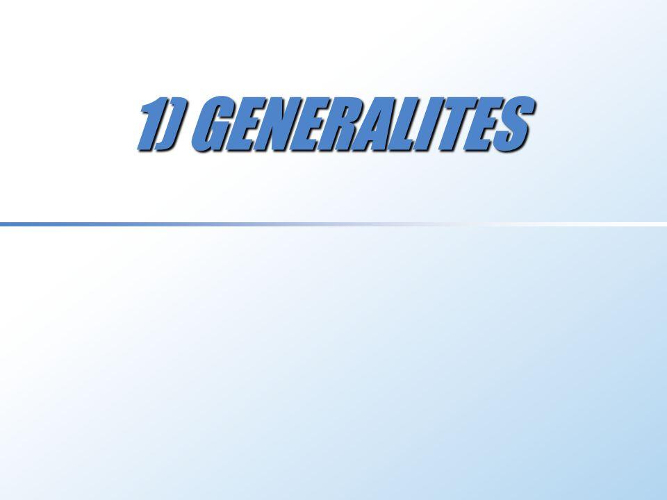 1) GENERALITES