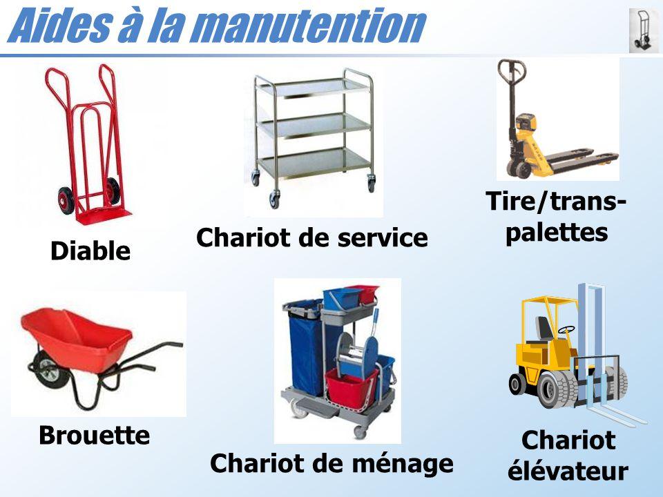 Aides à la manutention Chariot de ménage Tire/trans- palettes Diable Brouette Chariot de service Chariot élévateur