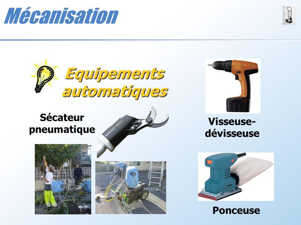 Mécanisation Sécateur pneumatique Equipements automatiques Visseuse- dévisseuse Ponceuse