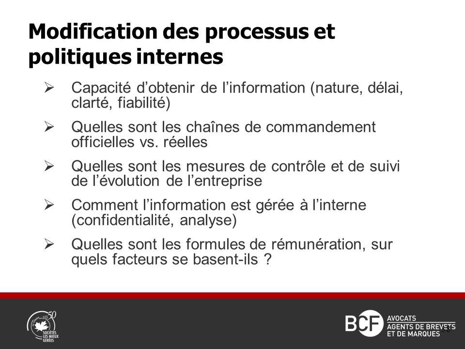 Capacité dobtenir de linformation (nature, délai, clarté, fiabilité) Quelles sont les chaînes de commandement officielles vs.
