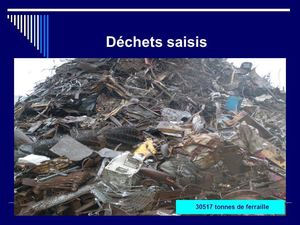 Déchets saisis 30517 tonnes de ferraille