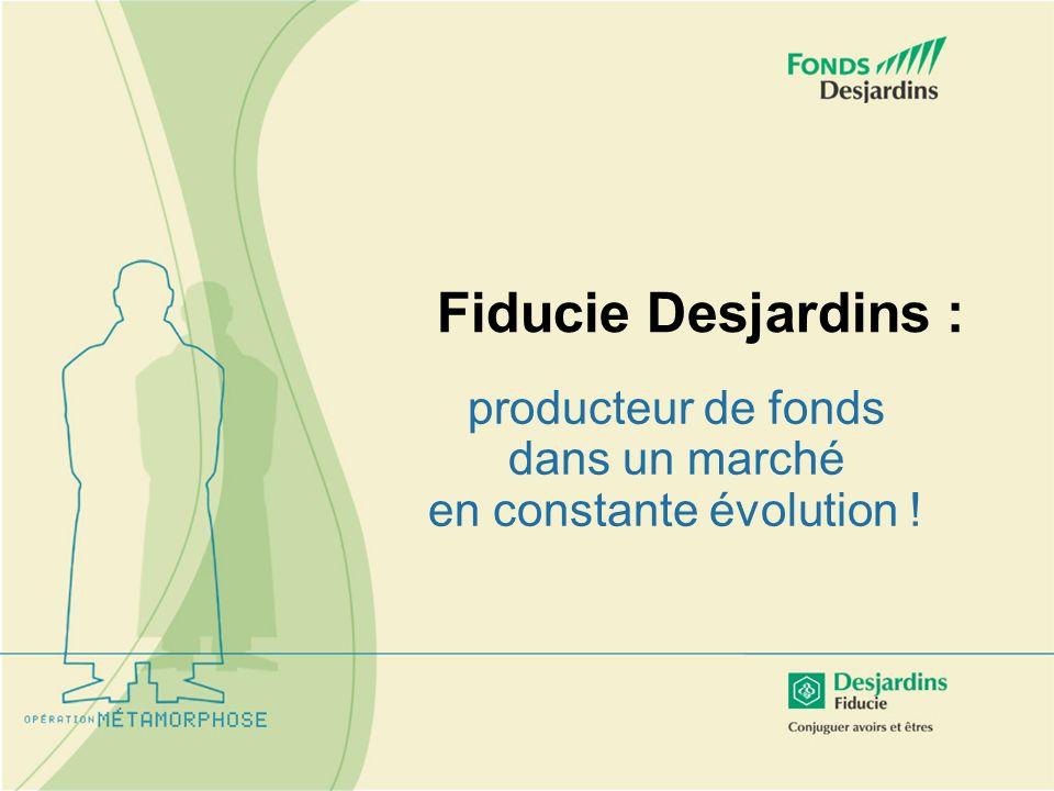 Fiducie Desjardins : producteur de fonds dans un marché en constante évolution !