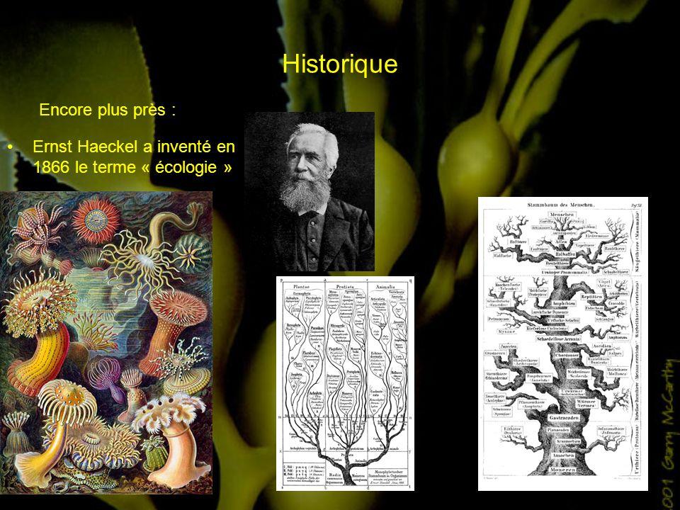 Historique Encore plus près : Ernst Haeckel a inventé en 1866 le terme « écologie »
