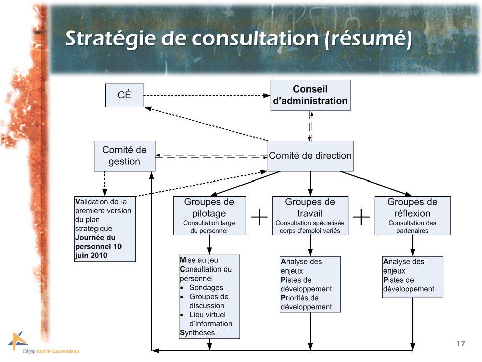 17 Stratégie de consultation (résumé)
