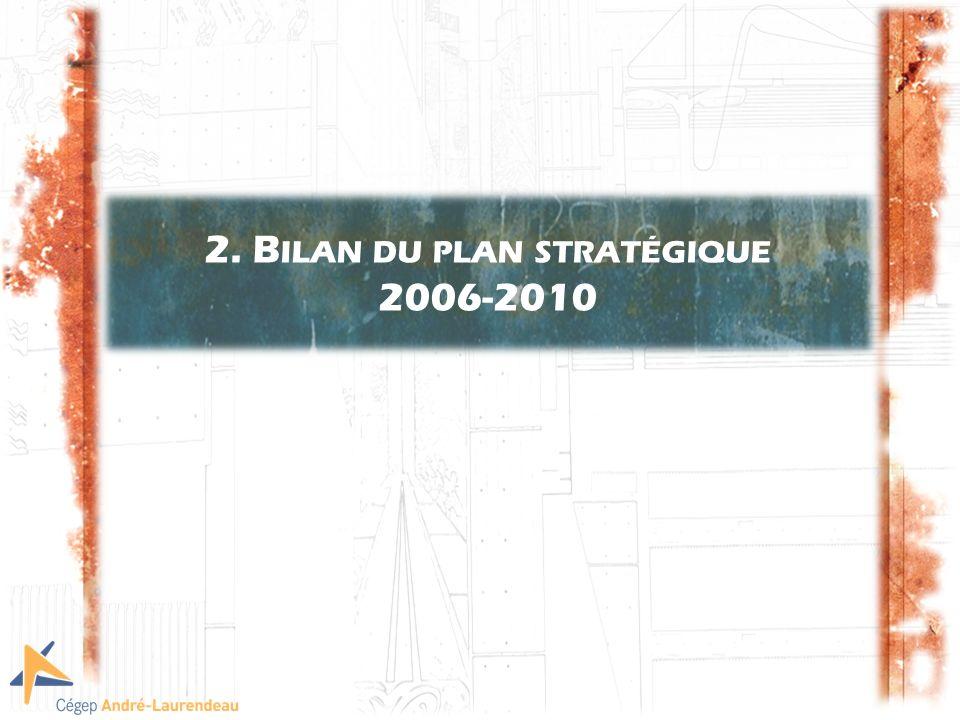2. B ILAN DU PLAN STRATÉGIQUE 2006-2010