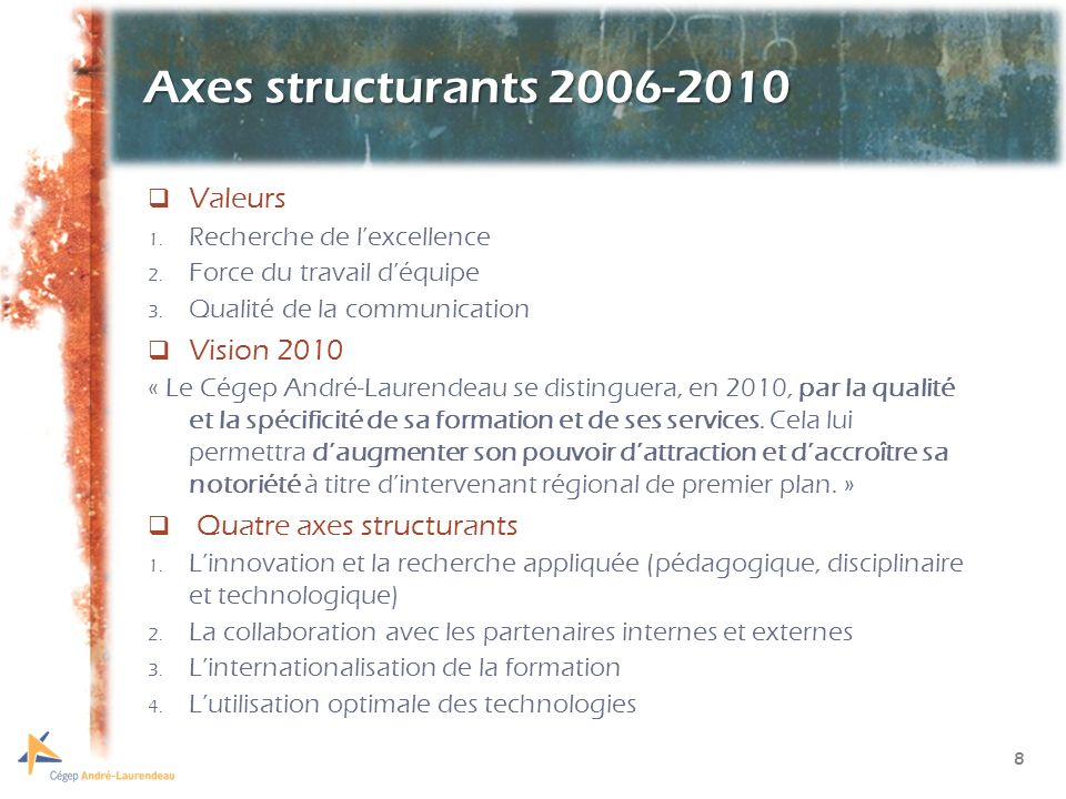 9 Quatre orientations 2006-2010