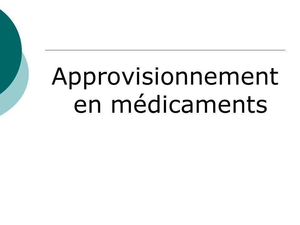 Approvisionnement en médicaments