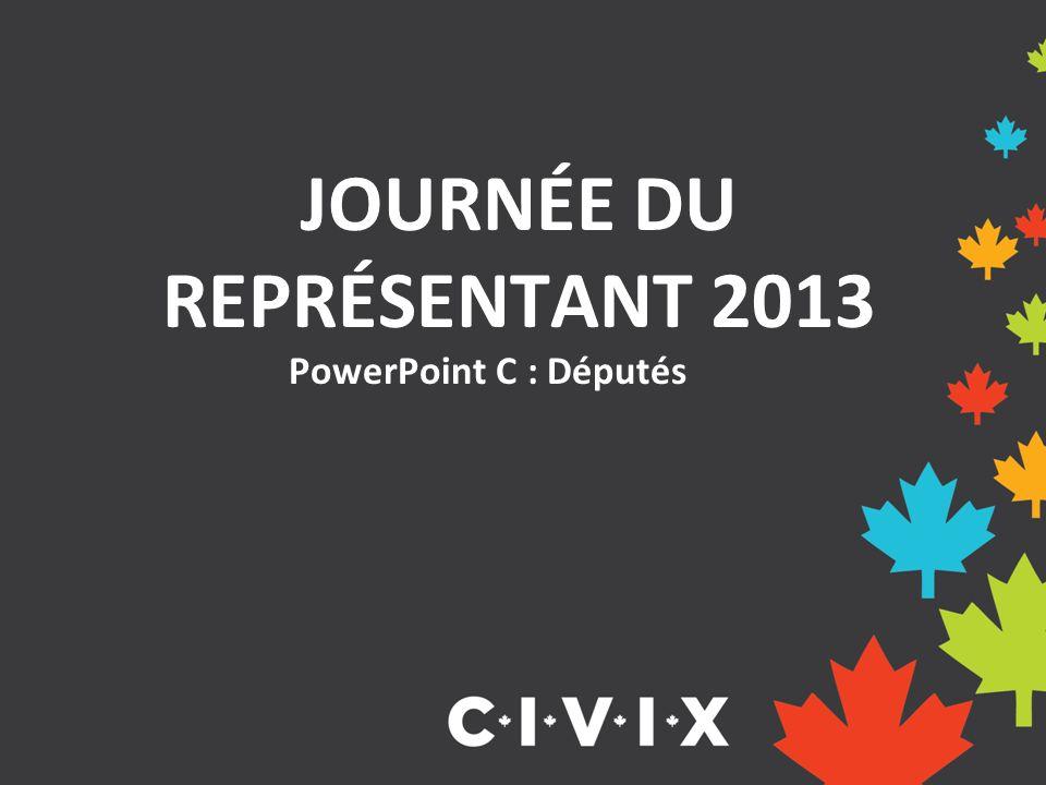 PowerPoint C : Députés JOURNÉE DU REPRÉSENTANT 2013