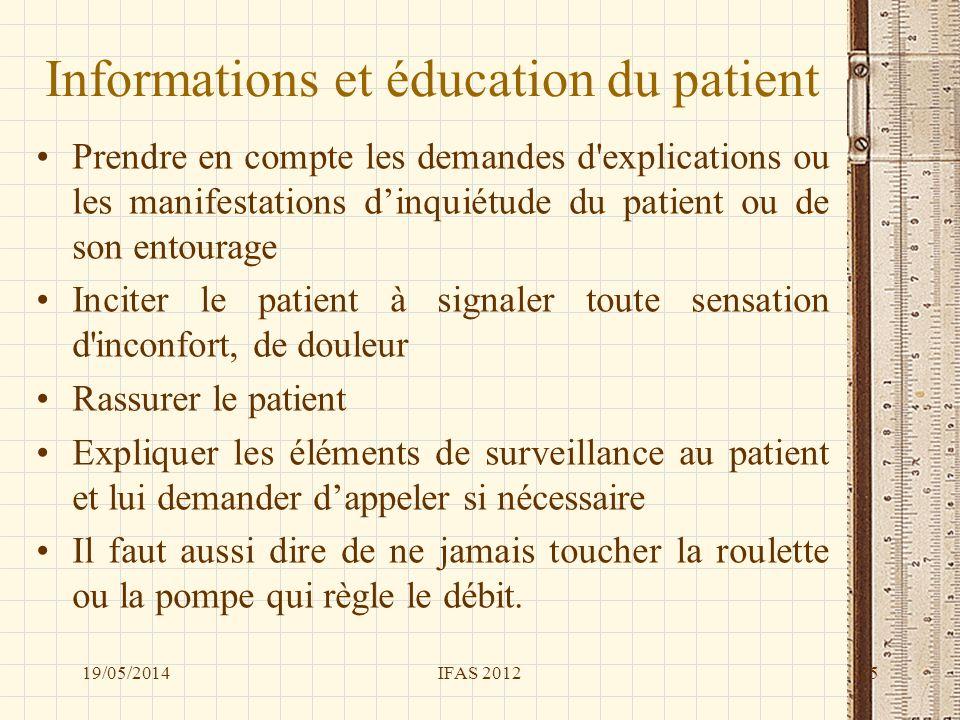 Informations et éducation du patient Prendre en compte les demandes d'explications ou les manifestations dinquiétude du patient ou de son entourage In
