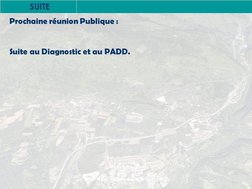 SUITE Prochaine réunion Publique : Suite au Diagnostic et au PADD.