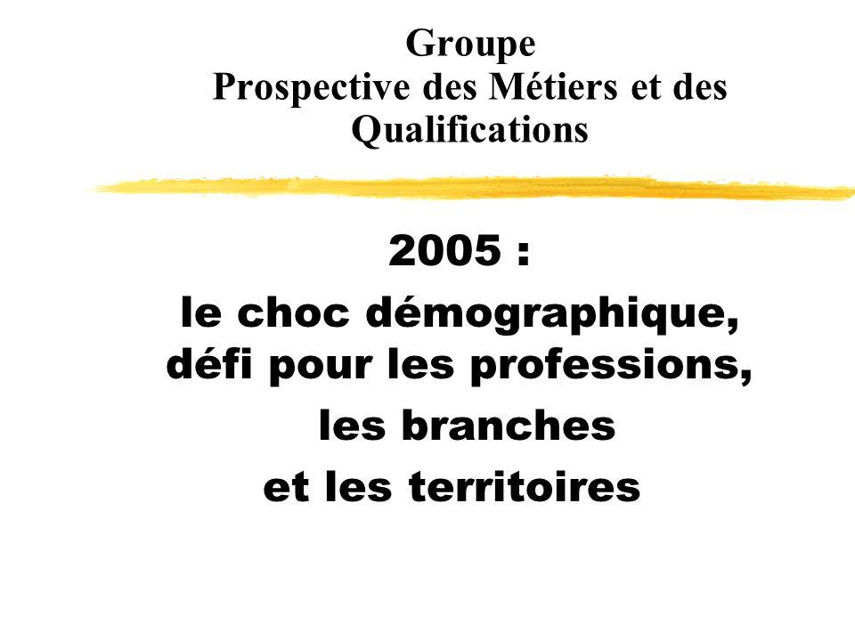 Groupe Prospective des Métiers et des Qualifications 2005 : le choc démographique, défi pour les professions, les branches et les territoires