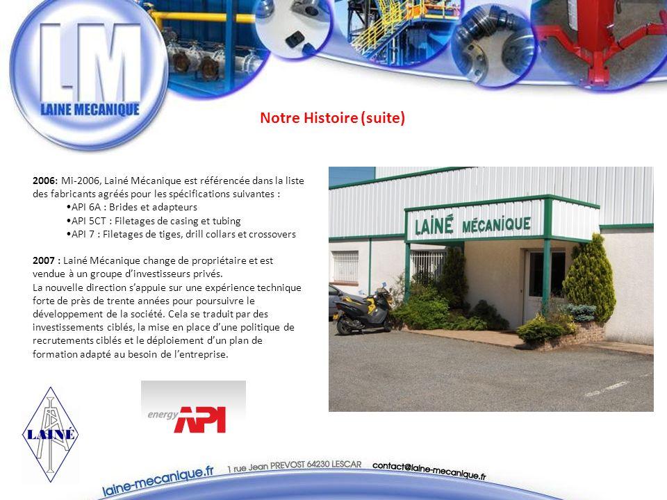 Nos fabrications (suite) Lifting Sub Adapteur Mud Cross Fraises Saver Sub Bloc manifold
