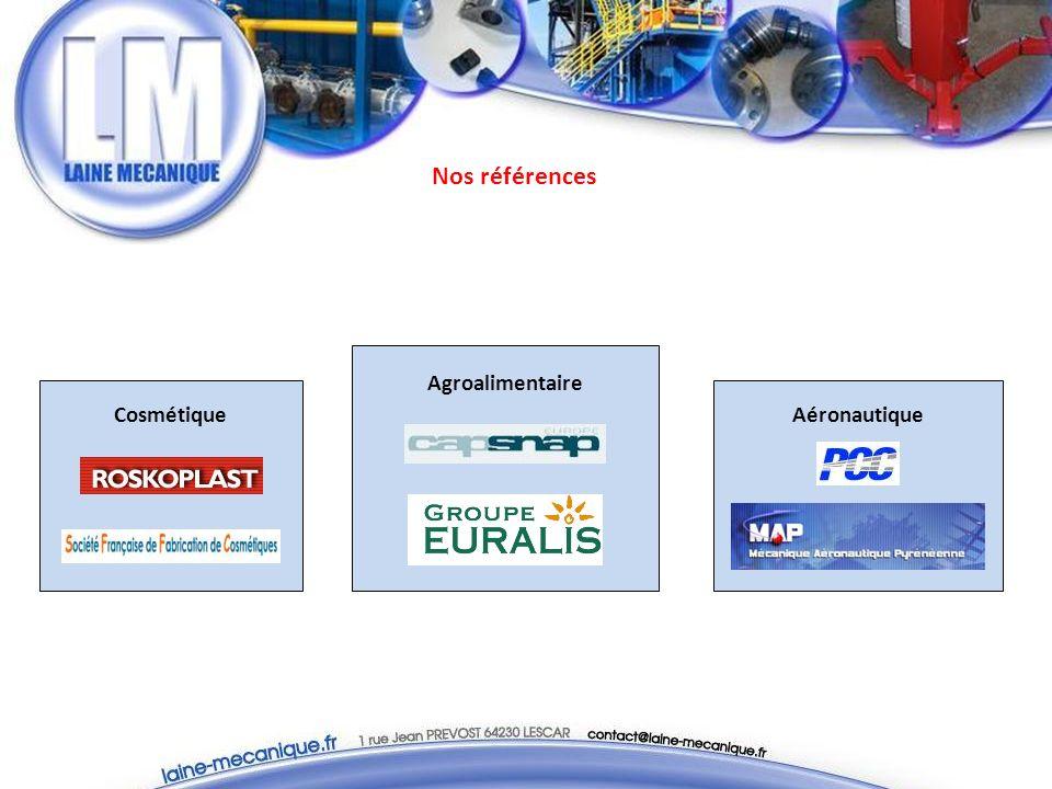 Nos références Aéronautique Agroalimentaire Cosmétique