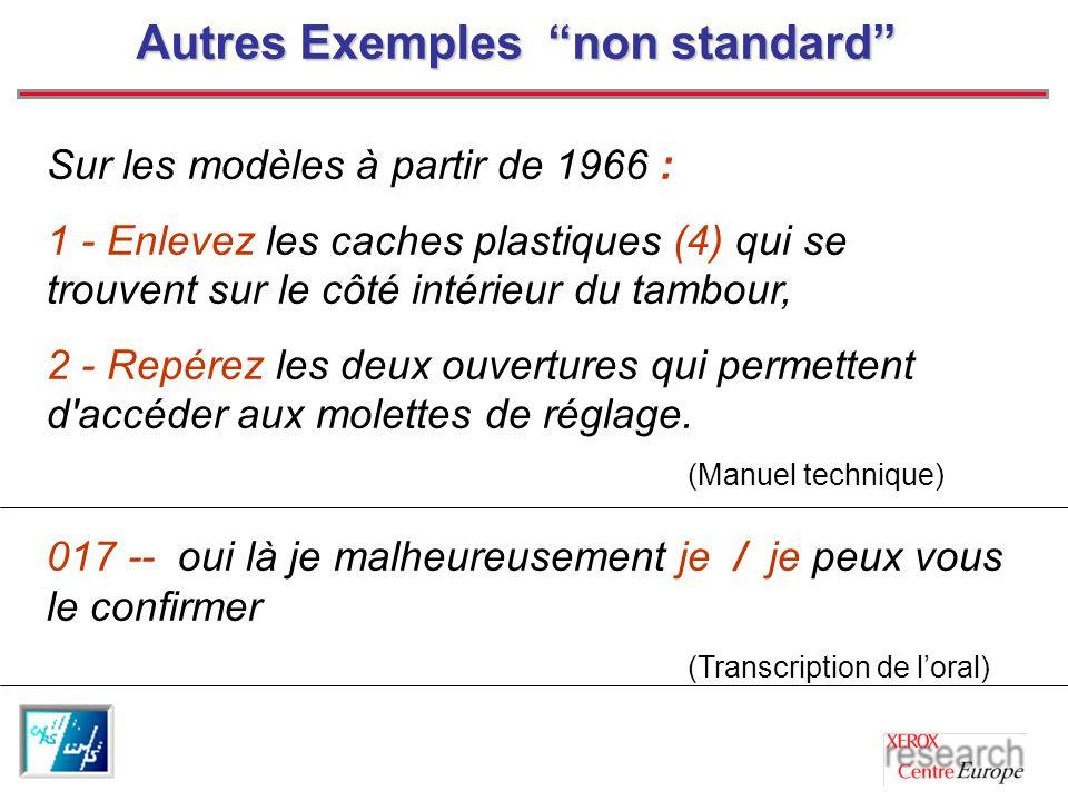 Problèmes actuels Ensemble de phénomènes non standard: pourcentage considérable dans les corpus.