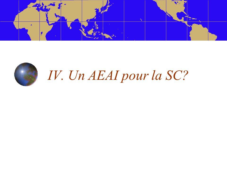 IV. Un AEAI pour la SC?