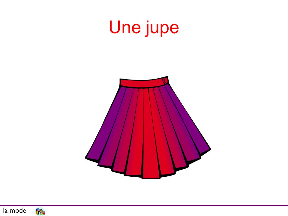 Une jupe la mode