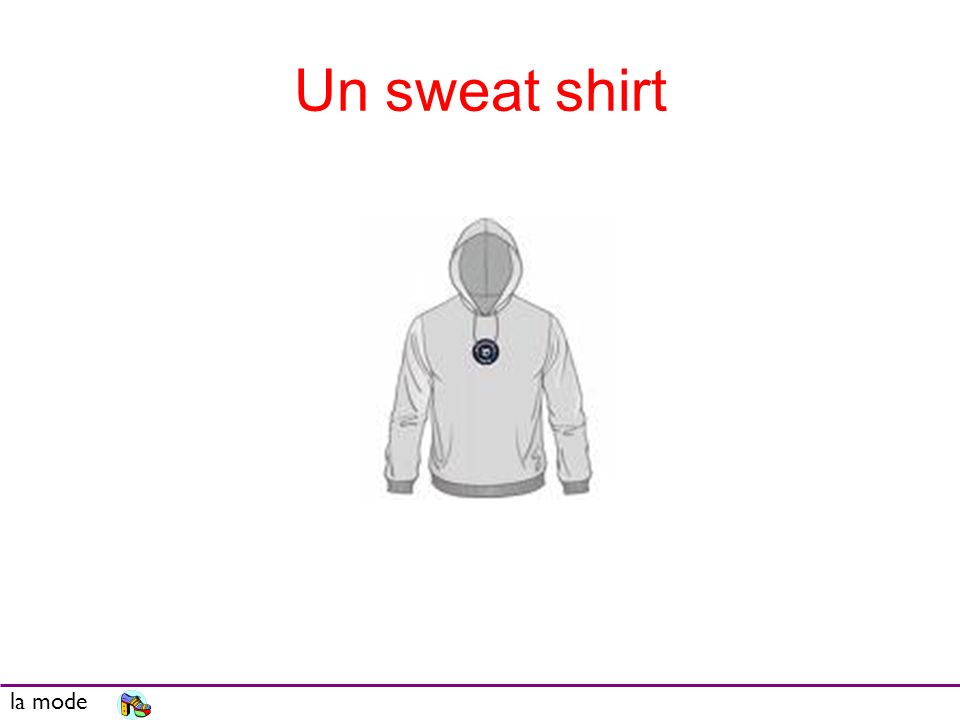 Un sweat shirt la mode