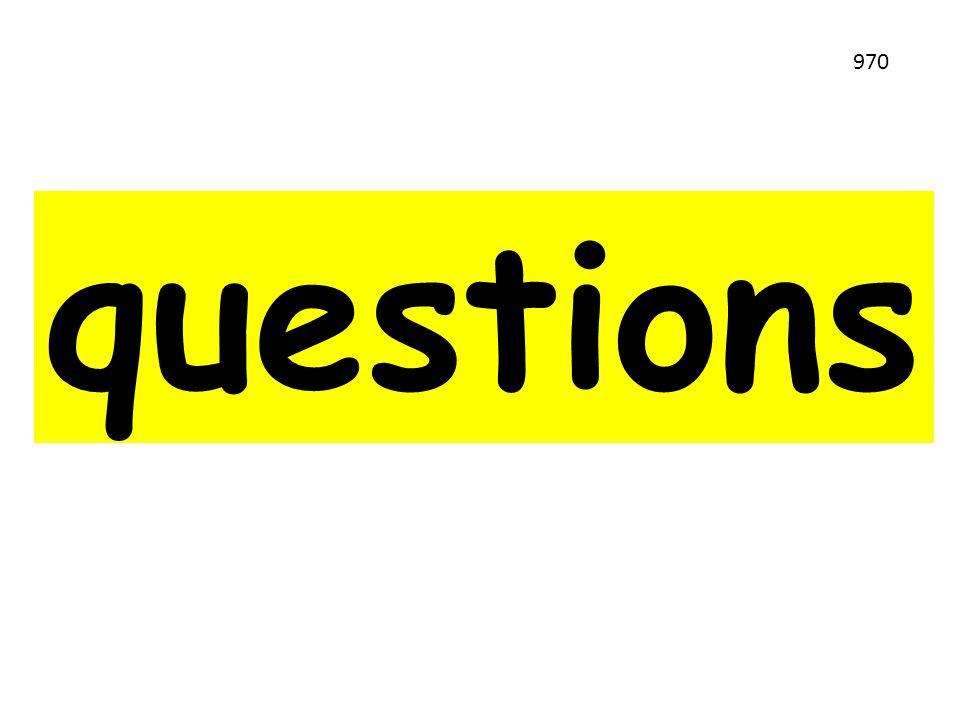 questions 970