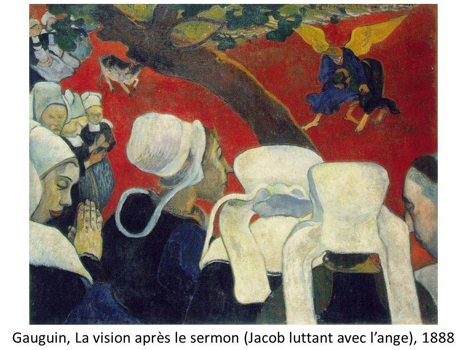 Gauguin, La vision après le sermon (Jacob luttant avec lange), 1888