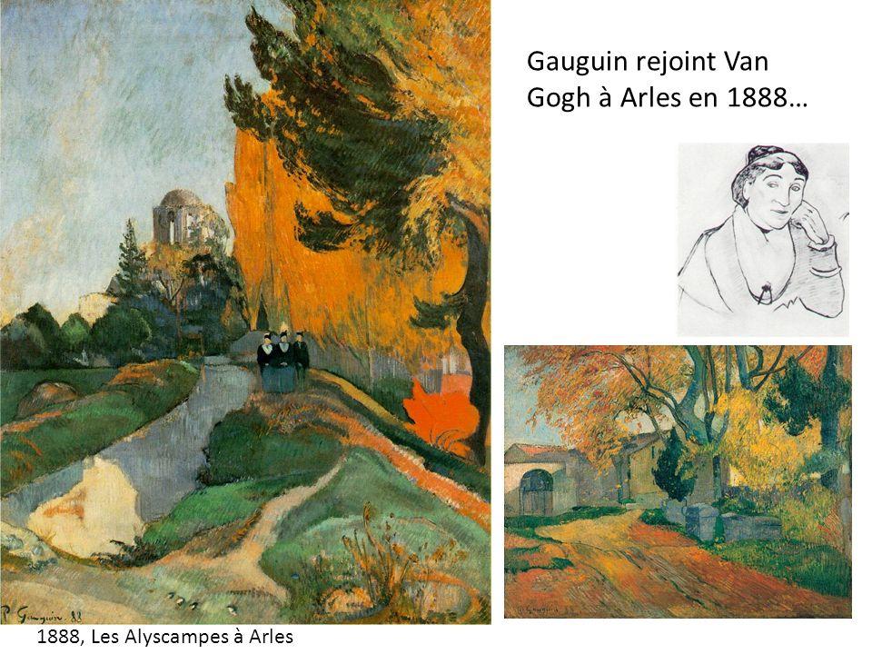 Gauguin rejoint Van Gogh à Arles en 1888… 1888, Les Alyscampes à Arles