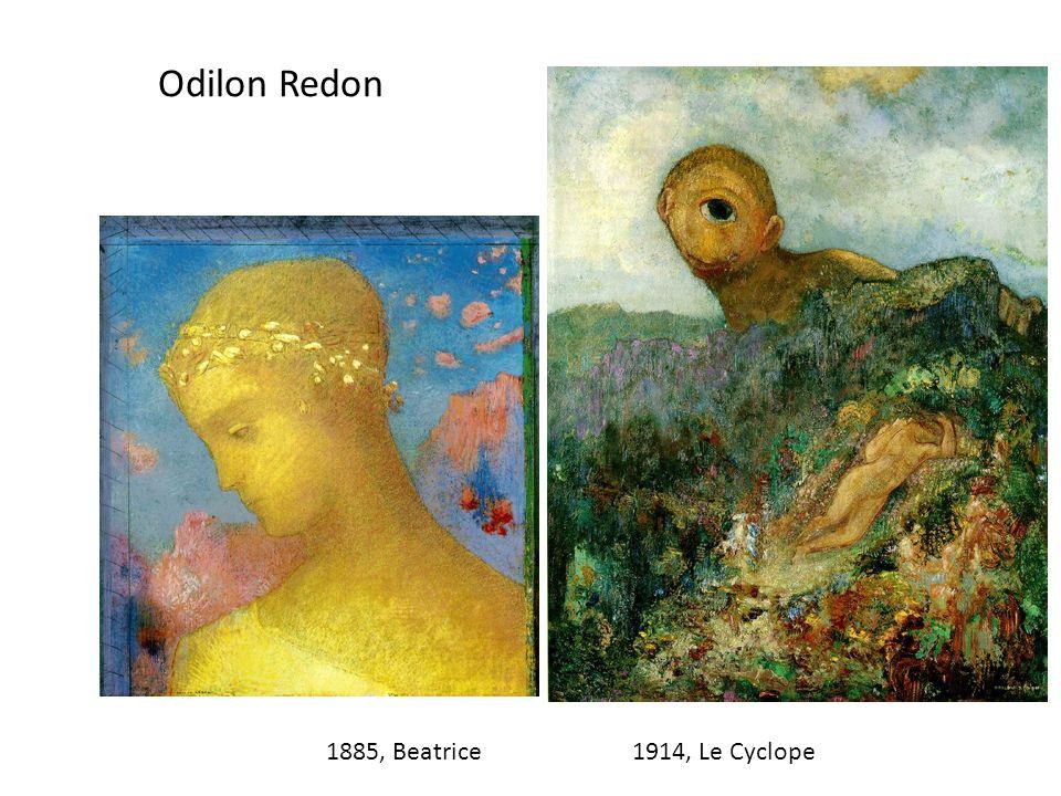 Odilon Redon 1885, Beatrice1914, Le Cyclope