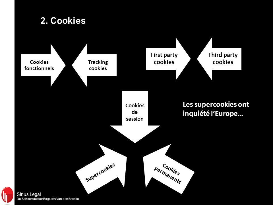 Sirius Legal De Scheemaecker Bogaerts Van den Brande Les supercookies ont inquiété lEurope… 2.