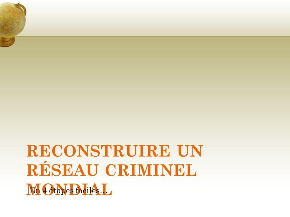 RECONSTRUIRE UN RÉSEAU CRIMINEL MONDIAL En 4 étapes faciles…