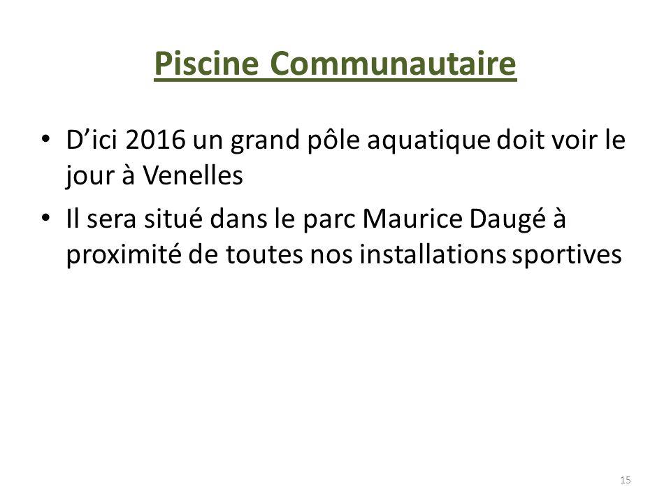 Piscine Communautaire Dici 2016 un grand pôle aquatique doit voir le jour à Venelles Il sera situé dans le parc Maurice Daugé à proximité de toutes no