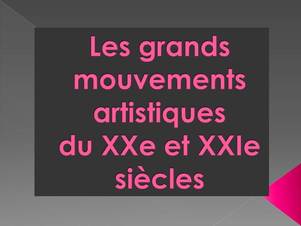 Fauvisme/ Futurisme/Cubisme/ Lexpressionisme / Surréalisme Site Histoire de lart, http://www.histoiredelart.net/courants- picturaux.htmlhttp://www.histoiredelart.net/courants- picturaux.html Dadaisme : http://www.le-dadaisme.com/ Art abstrait : http://mediation.centrepompidou.fr/education/ressources/ENS- abstrait/ENS-abstrait.html Pop art http://www.le-pop-art.com/ Hyperréalisme http://collegealbertcamus.free.fr/pages/hyperealisme.htm