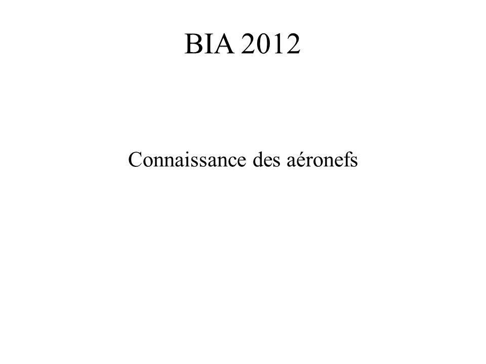 BIA 2012 Connaissance des aéronefs