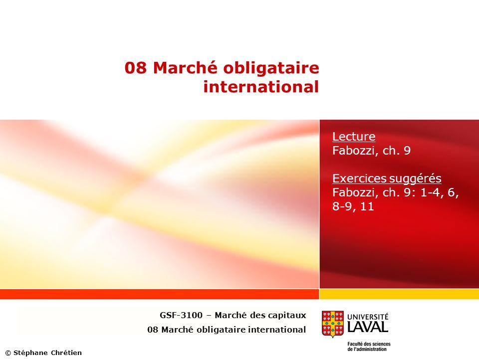 08 Marché obligataire international Lecture Fabozzi, ch.