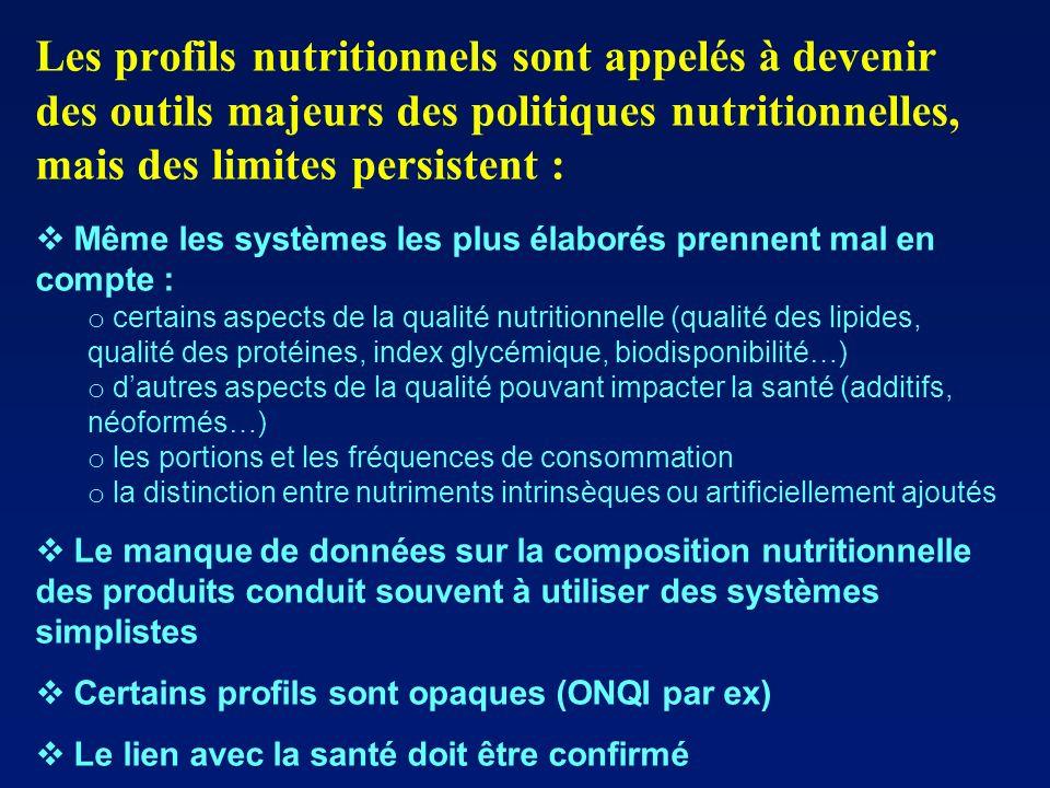 Les profils nutritionnels sont appelés à devenir des outils majeurs des politiques nutritionnelles, mais des limites persistent : Même les systèmes le