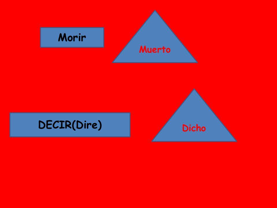 Morir DECIR(Dire) Muerto Dicho