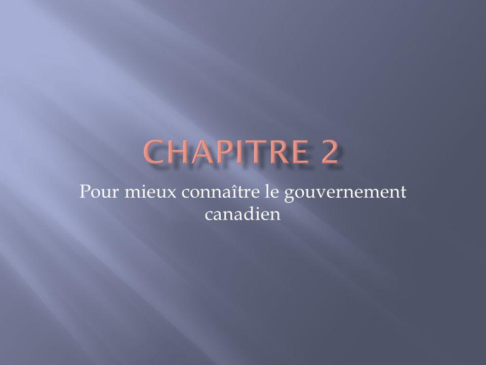 Pour mieux connaître le gouvernement canadien
