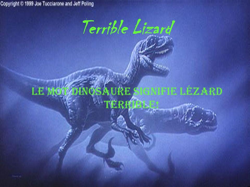 Terrible Lizard Le mot dinosaure signifie lézard terrible!