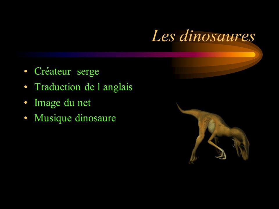 Goodbye Les dinosaures étaient des animaux vraiment étonnants! Mais pour vous et moi, c'est une bonne chose qu'ils ont disparu, sinon, nous pourrions