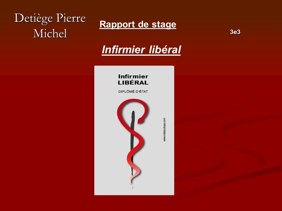 Detiège Pierre Michel 3e3 Rapport de stage Infirmier libéral