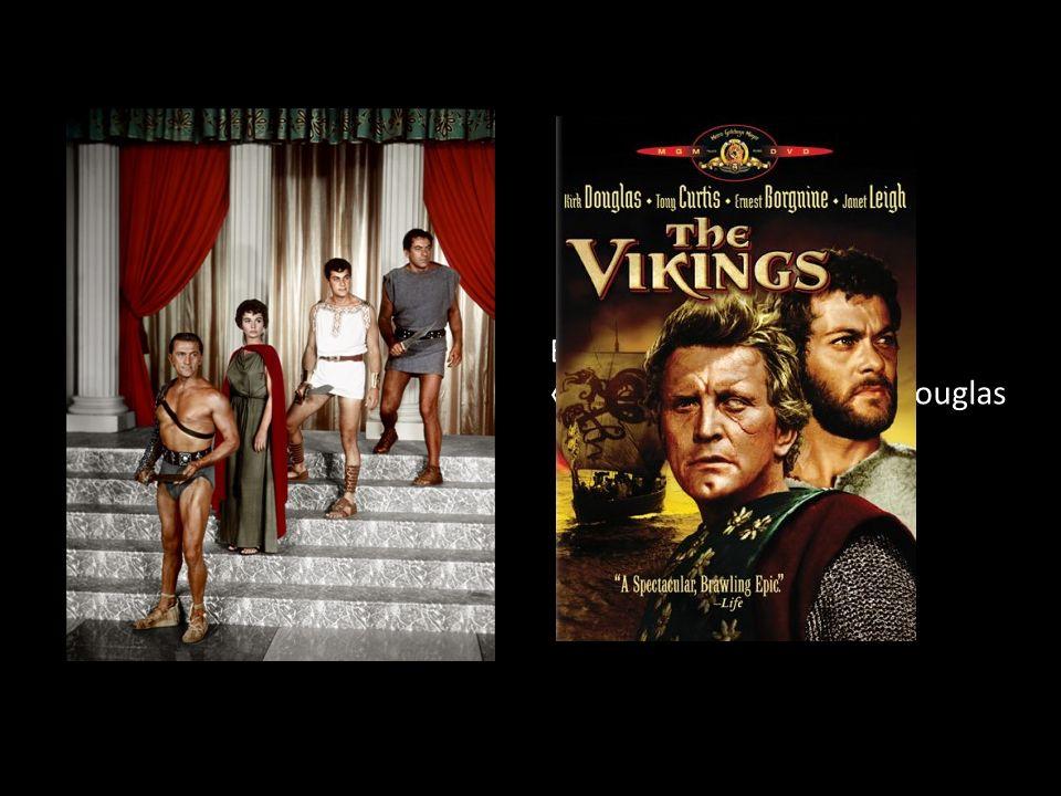 En blanc dans le film « Spartacus » avec Kirk Douglas
